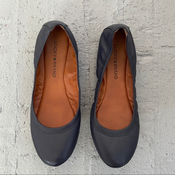 Lucky Brand Shoes - Lucky Brand navy leather Emmie flat